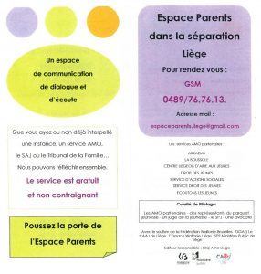 Espace Parents dans la séparation - Liège - AMO